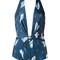 Giuliana romanno printed swimsuit, women's, size: g, blue, polyamide/spandex/elastane