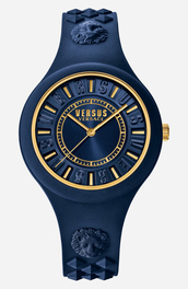 jewels,versace,navy,gift ideas,blue,back to school,animal,lion,gold watch,watch,gold