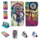 phone cover,pu leather,iphone 6 case,dreamcatcher,floral
