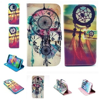 phone cover phone case pu leather iphone 6 case dream catcher floral