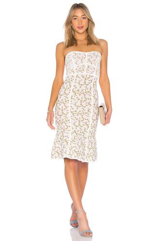dress strapless dress strapless jacquard white
