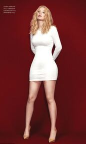 dress,mini dress,white,editorial,bodycon dress,white dress,pumps,iggy azalea