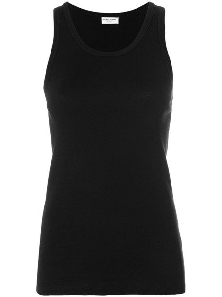 Saint Laurent top vest top women cotton black