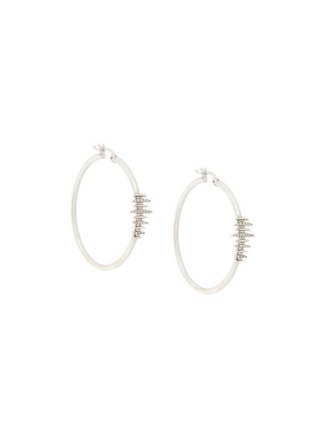 Kamushki women earrings hoop earrings gold white grey metallic jewels