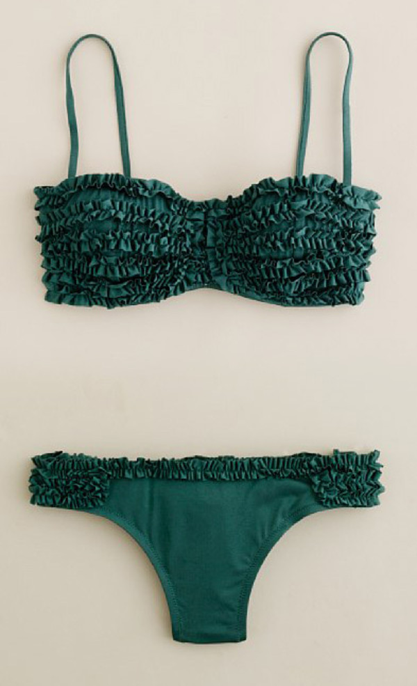 swimwear ruffle green kelly green swimwear bikini ruffle swimwear two piece