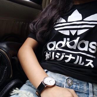 fashion urban outfitters shirt white t-shirt black trendy sportswear black and white monochrome adidas japanese basic shorts