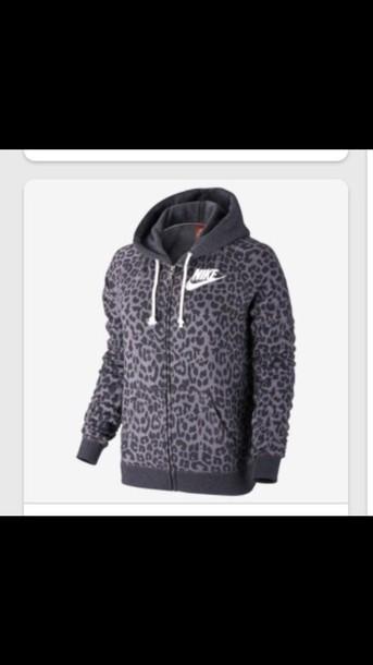 nike animal print hoodie