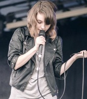 jacket,lauren mayberry,black leather jacket biker style
