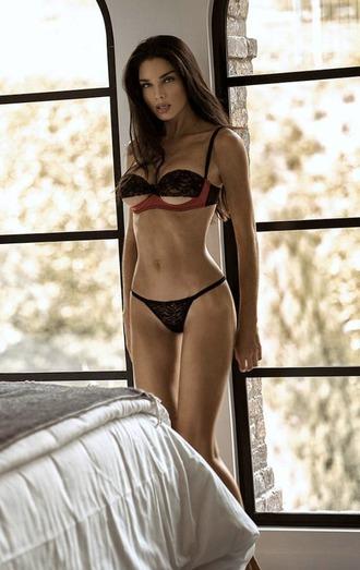 underwear lingerie bra black bra sexy sexy bra thong yandy