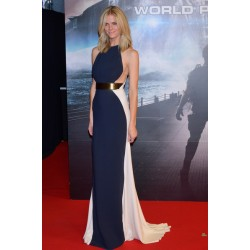 Brooklyn Decker Dark Blue and White Formal Prom Dress 'Battleship' Japan Premiere