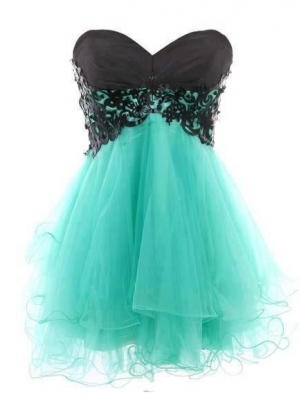 Buy Fantastic Lace Ball Gown Sweetheart Mini Prom Dress   under 200-SinoAnt.com