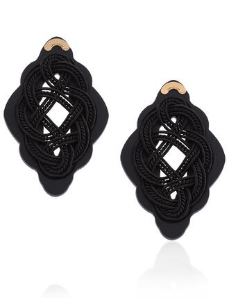 stud earrings earrings black
