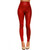 Red Faux Leather High Waist Leggings | Emprada