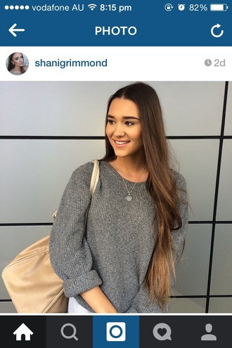 sweater grey sweater knitted sweater shani grimmond