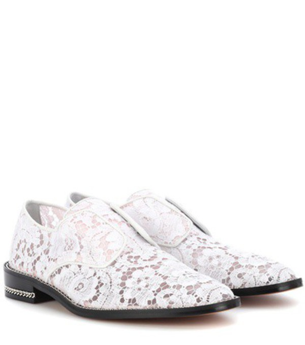 Givenchy Derby Double Chain lace shoes in white