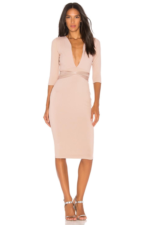 Donna Mizani Luciana Midi Dress in blush
