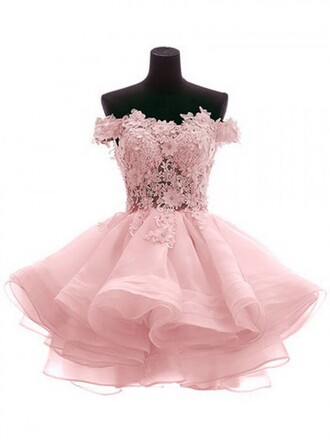 dress pink flowers kawaii sweet princess lace dress pink dress white vintage romantic prom dress short dress lace sweetheart neckline off the shoulder cute gorgeous short wedding dress wedding clothes short homecoming dress off the shoulder dress short short prom dress classy clothes homecoming dress graduation dress