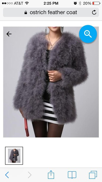 coat ostrich feather coat