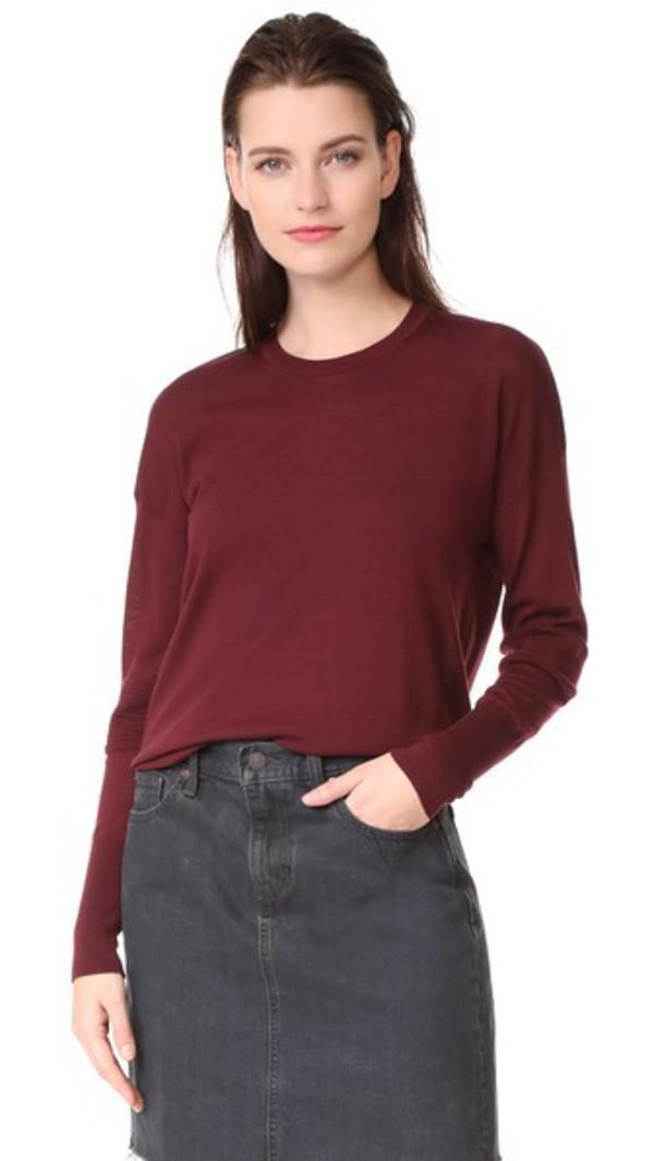 Belstaff Sarah Superfine Sweater in burgundy