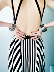 dress,stripes,backless,black and white,strappy,striped dress,little black dress,black dress