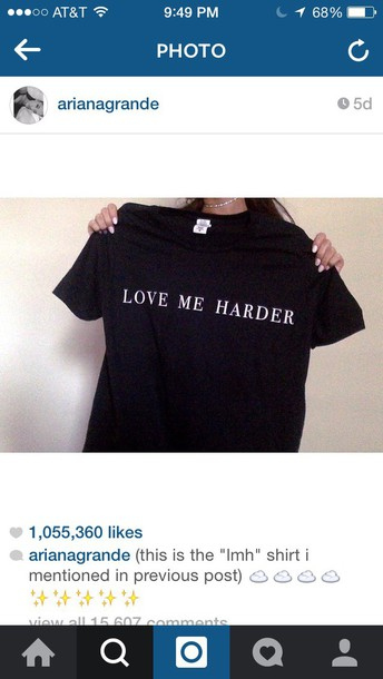 shirt black lovemeharder