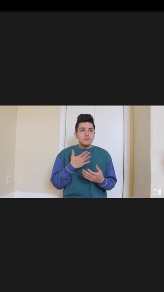 sweater youtuber sweatshirt blue lohanthony