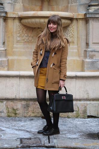 beige coat duffle coat