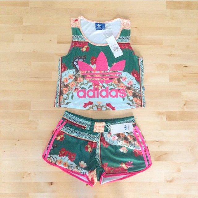 Adidas x farm company crop vest ... | Diane Le | Depop