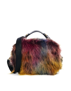 ASOS | ASOS Tophandle Bag In Crazy Faux Fur at ASOS
