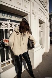 viennawedekind,blogger,sweater,coat,pants,bag,shoes