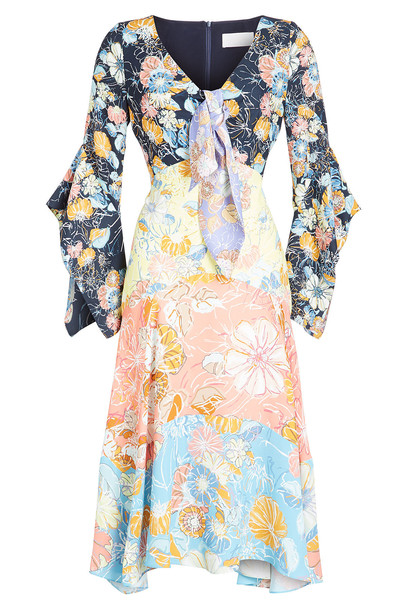 Peter Pilotto Printed Satin Knot Dress