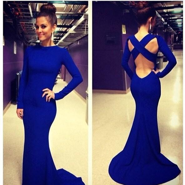 Royal Blue Slim Dresses