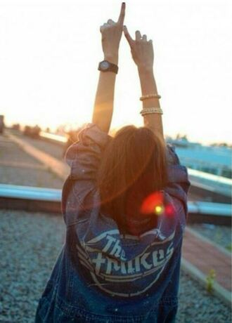 blouse grunge jeans retro vintage beautiful tumblr swag veste jacket