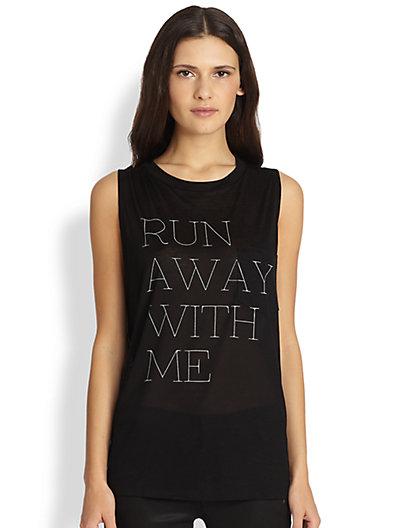 Haute Hippie - Run Away With Me Muscle Tee - Saks.com