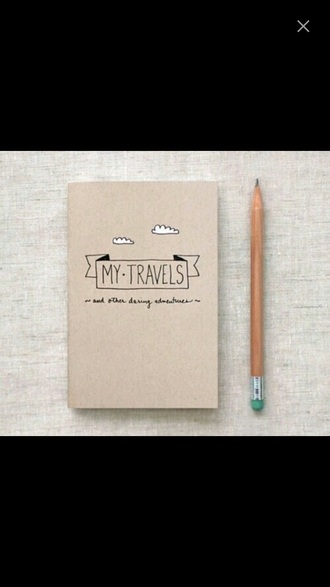 home accessory notebook travel hipster