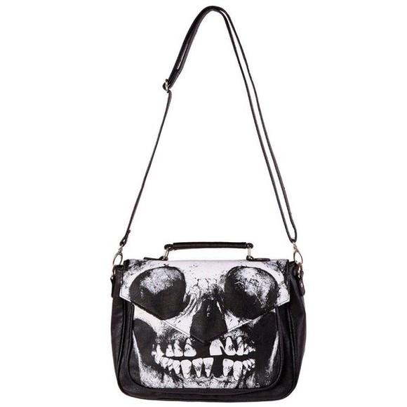 skull halloween bag iron fist bag teeth skeleton
