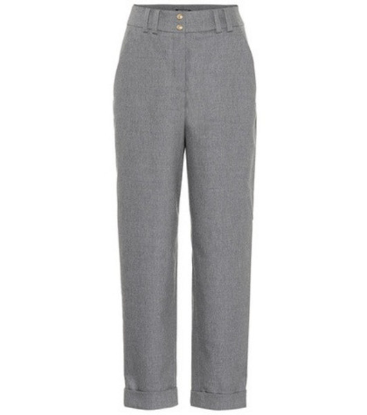 Balmain High-waisted wool pants in grey