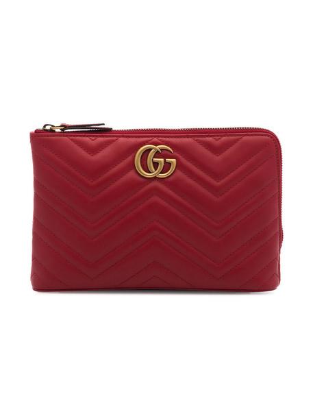 gucci women clutch leather red bag