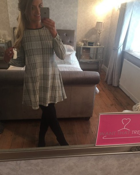 dress swing dress grey tartan swing dress beautiful dresses stripes grey dress grey