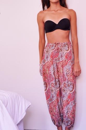 pants thailand indie boho harem pants gypsy loose pretty