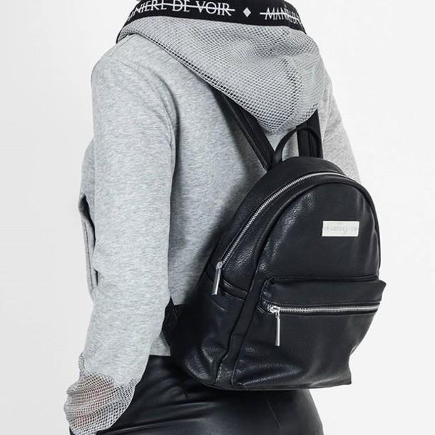 Mdv De bag maniere de voir mdv mini leather backpack faux grained