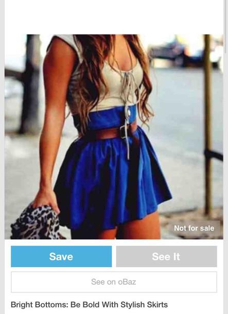 skirt blue skirt high waisted with belt