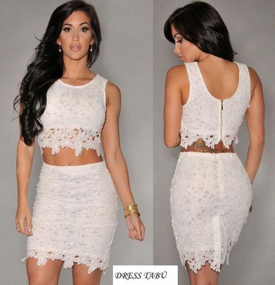 white dress fashion hot