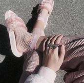 jewels,ring,stussy,pink