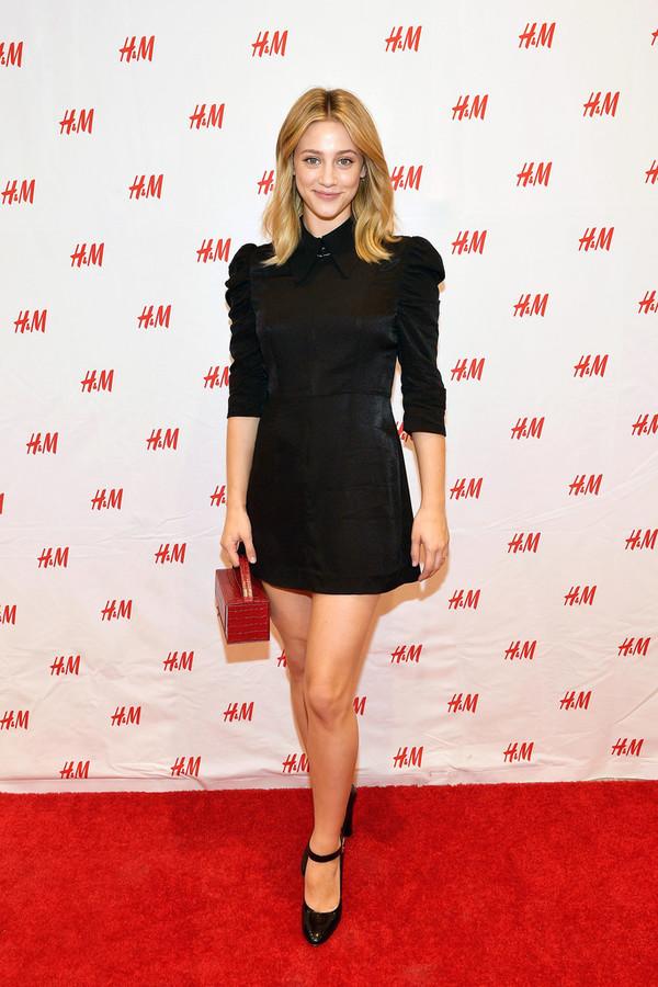 dress fall dress black dress little black dress lili reinhart celebrity velvet