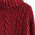 Wine Cable Knit Roll Neck Sweater - Retro, Indie and Unique Fashion
