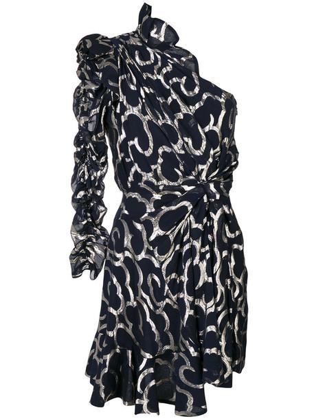 Isabel Marant dress metallic women cotton black silk