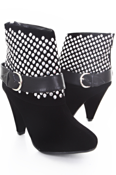Black suede studded ankle boot @ amiclubwear boots catalog:women's winter boots,leather thigh high boots,black platform knee high boots,over the knee boots,go go boots,cowgirl boots,gladiator boots,womens dress boots,skirt boots,pink boots,fashion boots,suede boots shoes,combat boots,snow boot,fur boots,discount dress shoes,women's dress shoes,lace up boots,womens sexy boots,motorcycle boots,hiking boots,casual boots,zipper boots,costume shoes,ankle boots