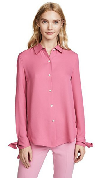 theory shirt pink top