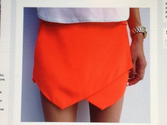skirt neon orange mini skirt mini skirt orange skirt neon skirt